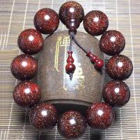 印度小叶紫檀手串108颗金星高油密佛珠红木2.0男女情侣手链