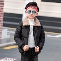 冬季男童2019新款中大童韩版短款金丝绒棉衣儿童加厚外套男孩棉袄秋冬新款