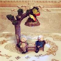 老头老太太摆件爷爷奶奶老人夜灯结婚记念日长辈礼物