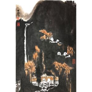 李可染《山水97》著名画家