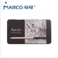 马可美术设计雷诺阿素描铅笔学生美术铅笔铁盒套装绘图12支铁盒装3001