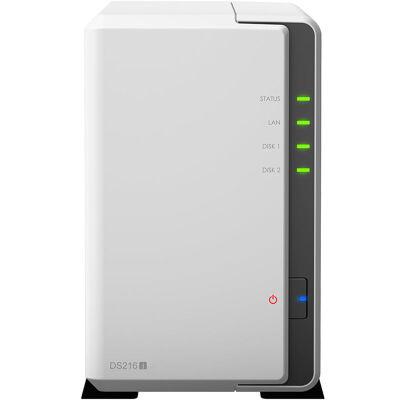 群晖(Synology)DS216j 家庭及个人小型企业适用的 双盘位多功能存储服务器二盘位入门NAS~ 全国联保 品质保证