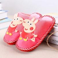 泰蜜熊男童女童室内宝宝鞋卡通防滑中大童鞋冬天儿童保暖棉拖鞋
