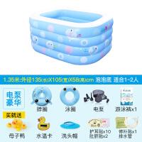 婴儿游泳池家用婴儿游泳池宝宝家用水池保温加厚新生儿婴幼儿童充气游泳桶