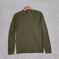 清货秋冬超火男士纯色圆领针织衫韩版修身青年套头羊毛衫毛衣