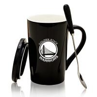 创意礼品创意陶瓷杯带盖勺刻字马克杯定制个性情侣杯子咖啡杯简约水杯