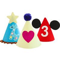 儿童生日帽 宝宝party派对生日装饰装扮生日布置发光皇冠帽子