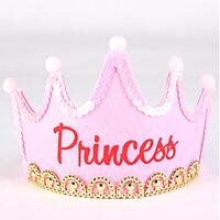 子儿童宝宝生日布置装饰女宝聚会孩派发光派对帽儿童生日派对布置用品SN9522