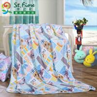 【限时秒杀】富安娜出品 圣之花毛毯法兰绒午休毯盖毯床单亲肤透气毯