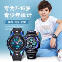 儿童手表男孩男童 迪士尼防水夜光运动电子表 迪斯尼米奇学生手表