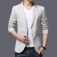 春秋季薄款男士休闲西装男外套上衣单件潮流修身韩版青年小西服男