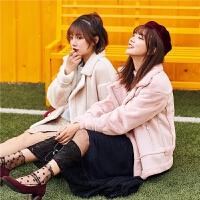 毛呢外套女2018冬季新款韩版秋冬学生时尚潮翻领短款呢子大衣女装
