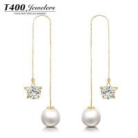 T400珍珠耳线时尚简约大气 27070022