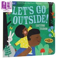 【中商原版】Let's Go Outside 一本学习野外观察的书 低幼启蒙亲子绘本耐撕咬 平装 英文原版 3-6岁