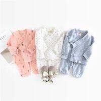 和尚服秋季男女幼童婴儿睡衣爬空调衫小童家居服装