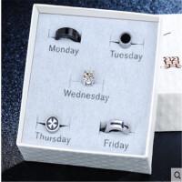 创意礼品韩国一周无耳洞单只男士耳钉套装耳环磁铁耳夹男个性潮人学生耳饰