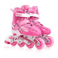 旱冰鞋直排轮滑鞋男女初学者溜冰鞋儿童全套装 3-5-6-8-10岁