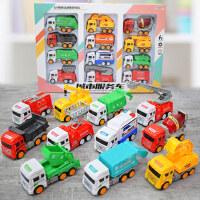 宝宝玩具车男孩工程车儿童消防小汽车环卫挖土机2-3岁套装各类车
