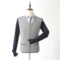 捌零折扣男装秋装毛衣拼接撞色羊毛衫衬衫领假两件青年线衫薄