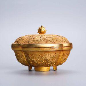 铜鎏银香薰