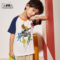 【2件3折到手价:38.1元】小虎宝儿童装男童短袖t恤洋气潮2020夏季新款儿童纯棉体恤中大童