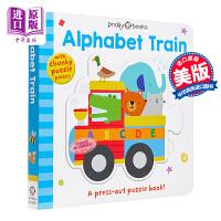 【中商原版】Puzzle and Play 拼图拼拼书 Roger Priddy 字母火车 Alphabet Train