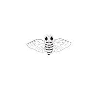 儿童DIY风筝潍坊风筝填色绘画教学风筝涂鸦风筝手工制作材料 蜜蜂风筝(仅风筝)好飞