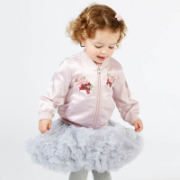 davebella戴维贝拉2018春季新款外套女宝宝棒球服休闲外套DBM7620