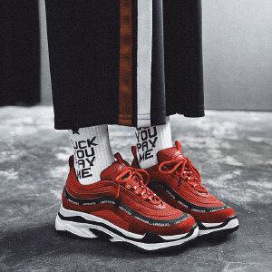 【活动中】小红人2019新款春季韩版ulzzang运动鞋女ins超火的鞋子女老爹鞋bf PU/网布