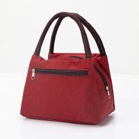 加厚防水牛津帆布便当包手提小花布包手拎小包饭盒袋女休闲包