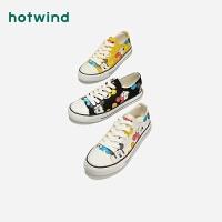 【2.29-3.2 2件3折】热风女士休闲鞋系带迪士尼卡通帆布鞋H14W9513