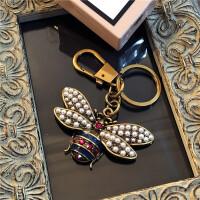 欧美汽车钥匙链可爱女生背包挂饰创意包包挂件饰品 蜜蜂70*103mm
