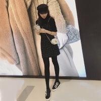 2019新款女装春装法式两件套装流行背带裙小香风吊带连衣裙女春秋