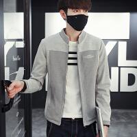 春季新款休闲韩版时尚大码男士卫衣潮流棒球男士立领夹克外套