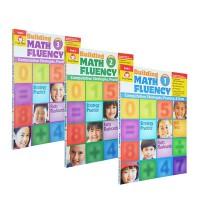 (300减100)【一至三年级】Building Math Fluency 3册 成材系列 数学达人 美国加州教材教师家长资源书附答案 Evan Moor 英文原版