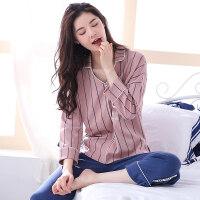 睡衣女春秋女士睡衣薄款家居服套装纯棉长袖夏季韩版甜美可爱女款