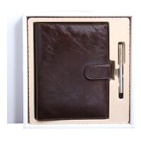 商务笔记本记事本礼盒套装金属水笔日记本活页本套装定制