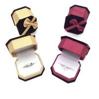 仿真钻戒女男士结婚假钻石戒指一对情侣活口求婚婚礼对戒 仿真钻戒一对送蝴蝶结戒指盒一对