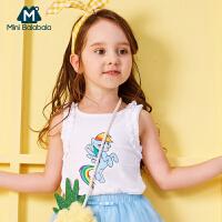 迷你巴拉巴拉女童小马宝莉款无袖背心儿童2018年夏装新款宝宝薄款