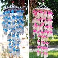 风铃挂饰 生日情人节礼物贝壳风铃儿童房间装饰 比水晶风铃更漂亮 蓝色 精美包装