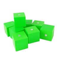 一组10个 5cm 磁性正方体 磁铁立方体 小学数学几何形体模型教具