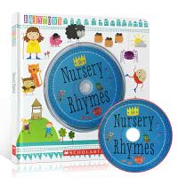 英文原版 Baby Town Nursery Rhymes 儿童韵文歌谣 精装书 附原版CD 美国经典儿歌 幼儿启蒙英