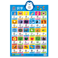 阳光宝贝有声挂图 识字 0--3-6-7岁婴幼儿玩具宝宝早教益智游戏立体发声电子挂图入门认识汉字人物交通工具水果蔬菜图