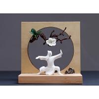 禅意摆件创意家具装饰木头艺术品红酒架现代简约
