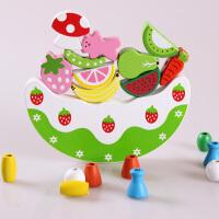 仿真蛋糕水果积木平衡架叠叠乐儿童宝宝拼装玩具