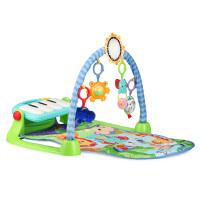 美国Fisher Price费雪脚踏钢琴 婴儿健身器宝宝游戏架爬行地垫