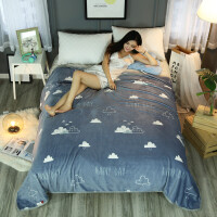 加厚法兰绒毛毯双人珊瑚绒床单冬季学生宿舍单人法莱绒毯空调毯子