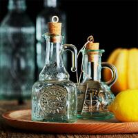 复古绿橄榄油瓶酱油醋瓶软木塞家用厨房调味瓶