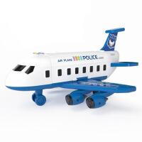 儿童玩具飞机滑行仿真音乐小客机模型男女孩宝宝玩具3-6周岁惯性儿童飞机玩具宝宝超大号耐摔益智多功能小男孩场景汽车模型3-