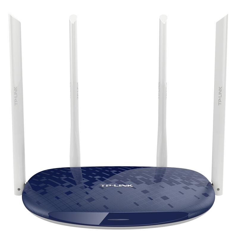 包邮 TP-LINK TL-WR886N 450M无线路由器 wifi穿墙王家用AP三天线中继桥接随身wifi 智能无线信号放大器扩展器发射器小区宽带光纤 宝蓝色送网线 全网销量过万